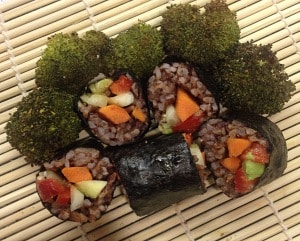 Spiced Red Rice SushiRolls