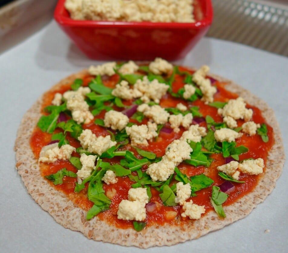 Tofu Ricotta Cheese Pizza