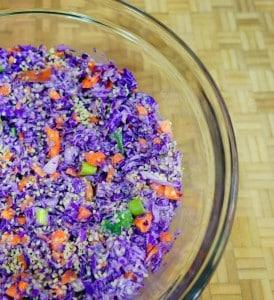 Purple Protein Slaw (Vegan Coleslaw)