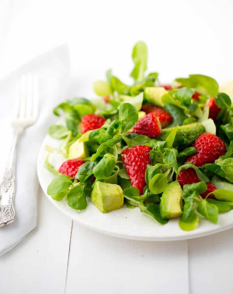 Healthy Happy Vegan Kitchen Strawberry Mache Salad
