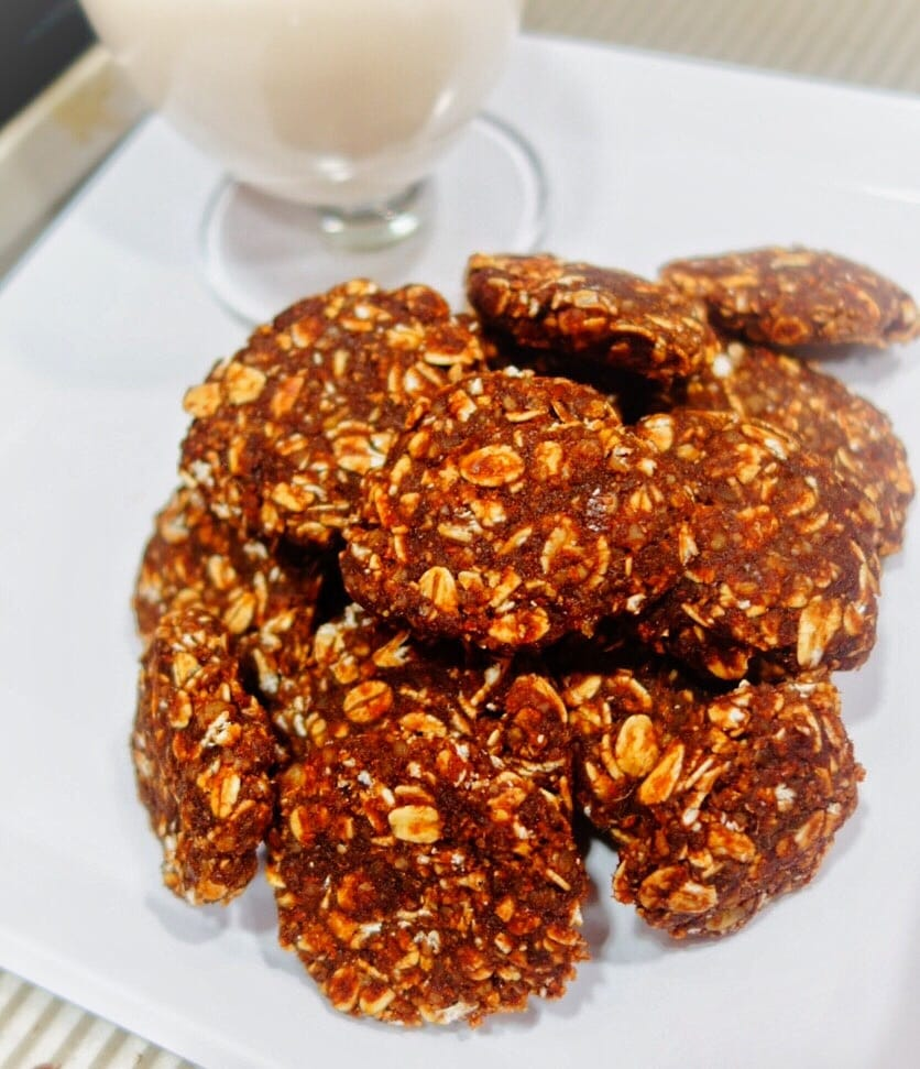 Chewy Cacao Almond Cookies