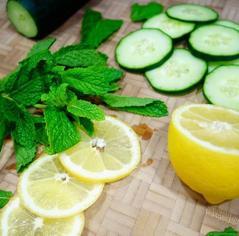 Cucumber, Mint and Lemon