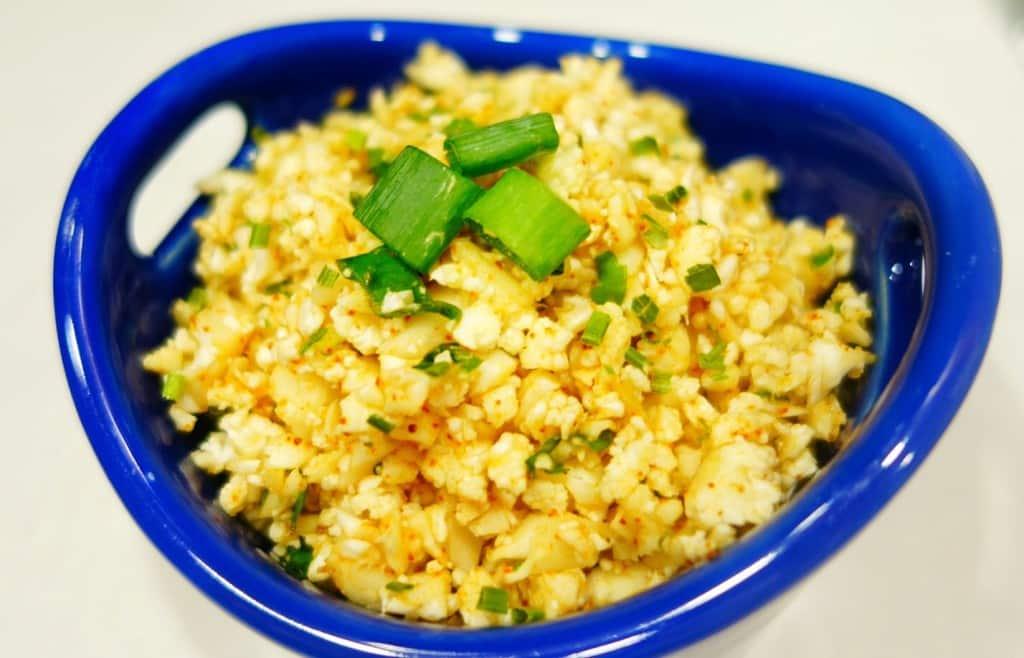 Raw Cauliflower Mexican Rice