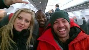 Amazon Race Winners on Plane