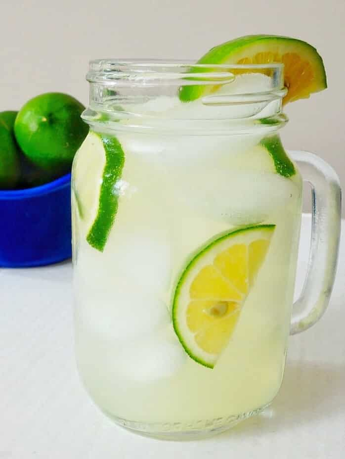 Homemade Lime Juice Spitzer