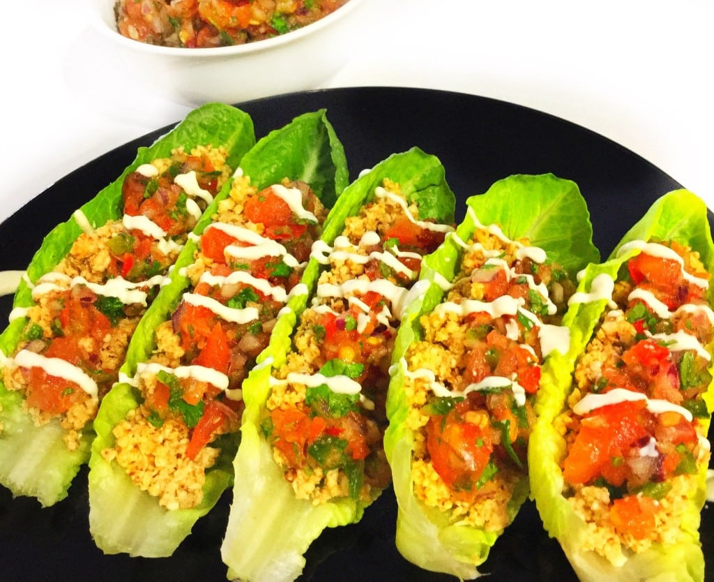Raw Cauliflower Walnut Tacos