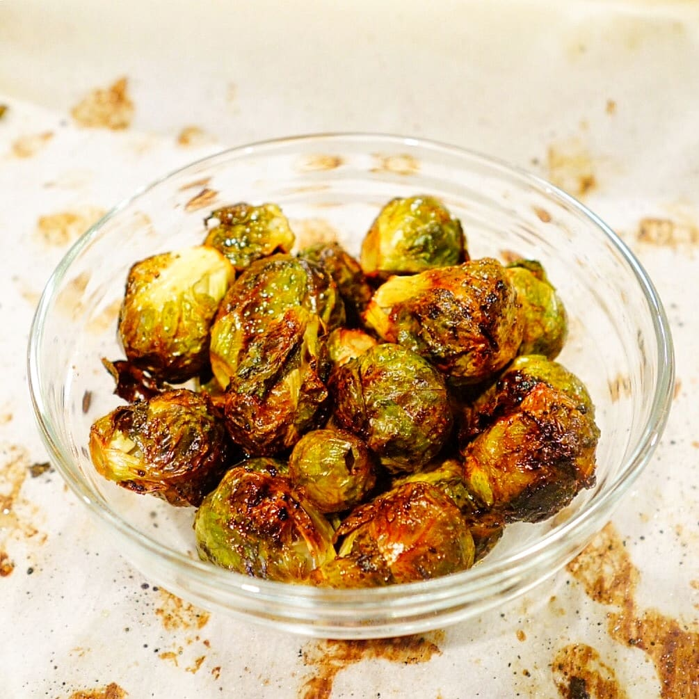 Honey Roasted Brussels Sprout (oil-free)