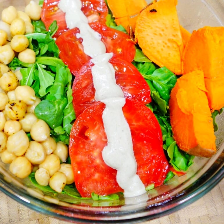 Sweet Potato Caesar Salad Recipe