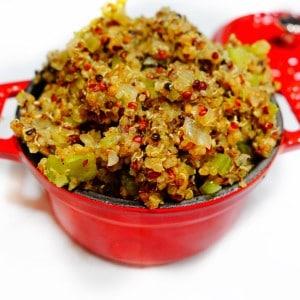 Easy Eggplant Quinoa Stuffing
