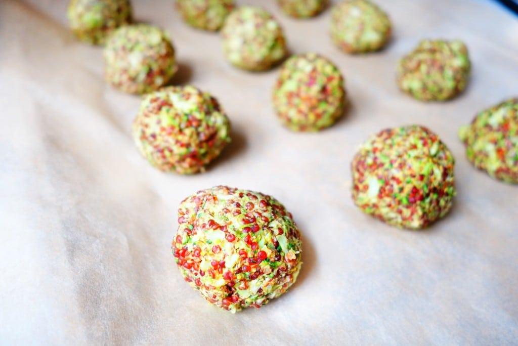 Quinoa Brocolli Balls before baking