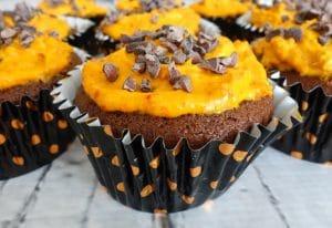 No Dye Orange Cupcakes