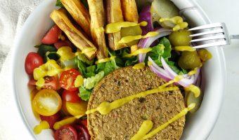 Veggie Burger Bowls