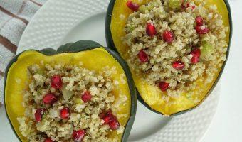 Quinoa Stuffing Acorn Squash