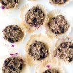 Fruit Sweetened Flourless Blueberry Muffins