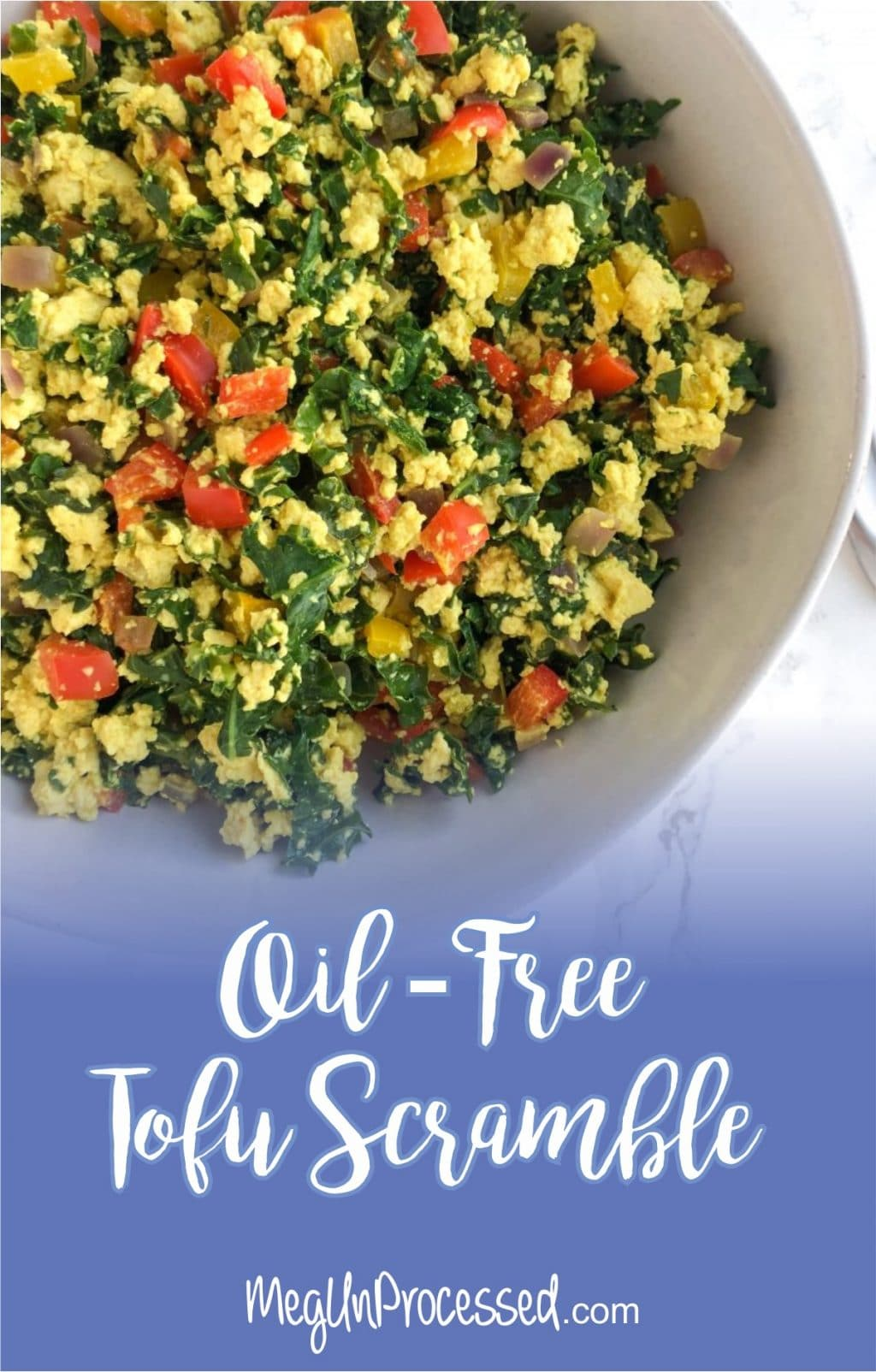 This easy dish is packed with veggies, plant-based protein and essential vitamins for nourishing meal. Tofu scramble can be eaten on it's own, in a tortilla for tacos or even on a salad.