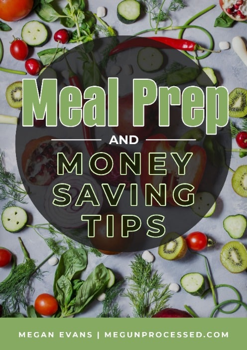 meal prep and money saving tips
