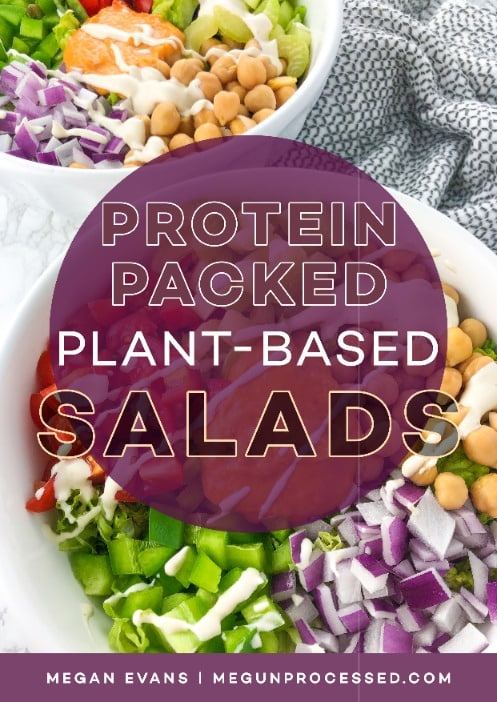 protein packed plant based salads